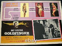 Sean Conneryjames Bond 007 (goldfinger) Rare Version 11x17 Lobby Card