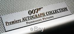 Signed 007 SEAN CONNERY 125+ JAMES BOND Autographs, UACC, COA, DVD's, Briefcase