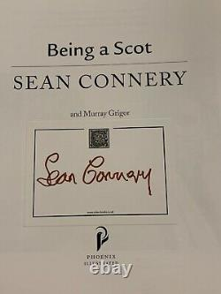 Signed/autographed Sean Connery Being A Scot Paperback Book James Bond 007