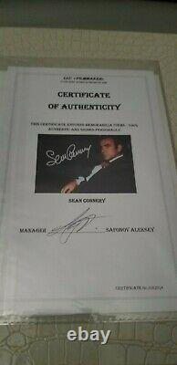 Sir Sean Connery as James Bond 007 The Best Bond singed withcoa autograph 6x8