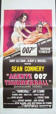 THUNDERBALL JAMES BOND italian locandina movie poster 13x29 SEAN CONNERY R75 NM