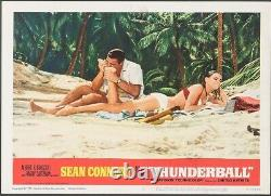 THUNDERBALL Lobby Card #5 James Bond/007 Sean Connery withsexy Claudine Auger