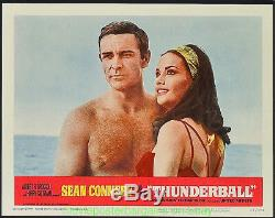 THUNDERBALL Lobby Card Size 11 by 14 Movie Poster C#2 JAMES BOND SEAN CONNERY