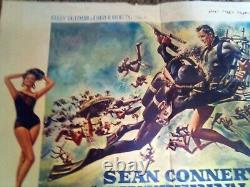 Thunderball JAMES BOND Belgian movie poster SEAN CONNERY 007 1965 rare