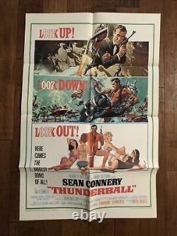 Thunderball Mint Original 1sheet Movie Poster Sean Connery James Bond