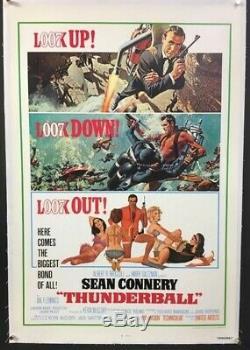 Thunderball Original Movie Poster James Bond Sean Connery Hollywood Posters
