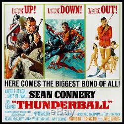 Thunderball Sean Connery As James Bond 1965 Six-sheet Billboard Movie Poster