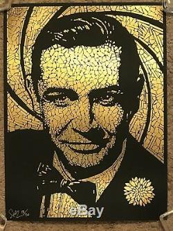 Todd Slater James Bond Sean Connery 007 Goldfinger Movie Art Print Poster Mondo