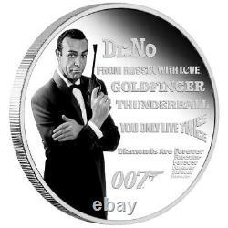 Tuvalu 1 Dollar 2021 James Bond Legacy Serie (1.) Sean Connery 1 Oz Silber PP