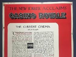 Ultra Rare CASINO ROYALE 40 x 60 Movie Poster 1967 James Bond Sean Connery