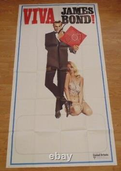 VIVA JAMES BOND 1970 ORIGINAL INT 3 SHEET CINEMA POSTER 41 X 81 Sean Connery