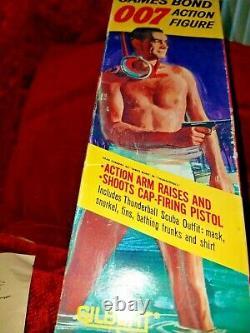 VTG MIB 1965 Gilbert 007 James Bond / Sean Connery Action Figure