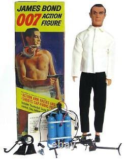 Vintage 1965 Gilbert James Bond 007 Spy Sean Connery Jetpack Sniper Rifle withBox