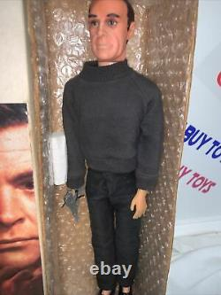 Vintage Gilbert James Bond 007 Action Figure Doll 12 Sean Connery With Pistol