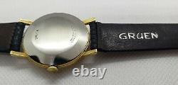 Vintage Gruen Precision Cal 510 17J James Bond 007 Sean Connery Rare Dial 14KGF