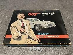 Vintage Kks Japan James Bond 007 Secret Agent 7 Colt Silencer Sean Connery Mint
