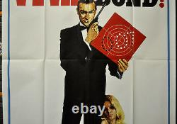 Viva James Bond 1970 Original 41x81 3 Sheet Movie Poster Sean Connery 007 Bond