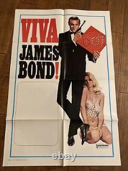 Viva James Bond Original 1970 1sheet Movie Poster Sean Connery