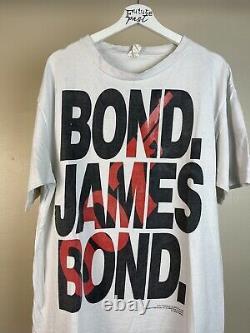 Vtg 94 James Bond movie spy crime 60s sean connery desantis shirt xl
