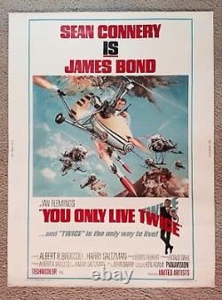 YOU ONLY LIVE TWICE Original 1967 Movie Poster, 30x40, JAMES BOND, SEAN CONNERY