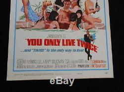 YOU ONLY LIVE TWICE original 1967 ROLLED movie poster SEAN CONNERY/JAMES BOND