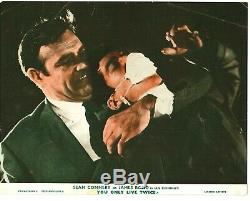 You Only Live Twice 8x ORIGINAL FOH 8x10 stills Sean Connery James Bond