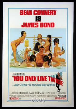 You Only Live Twice Sean Connery As James Bond 1967 Bathtub Style C 1-sheet Lb