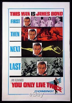 You Only Live Twice Sean Connery James Bond 1967 Advance 1-sheet Linenbacked