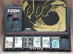 Zippo James Bond 007 Movies Lighter Collection Set Sean Connery Poser Printed
